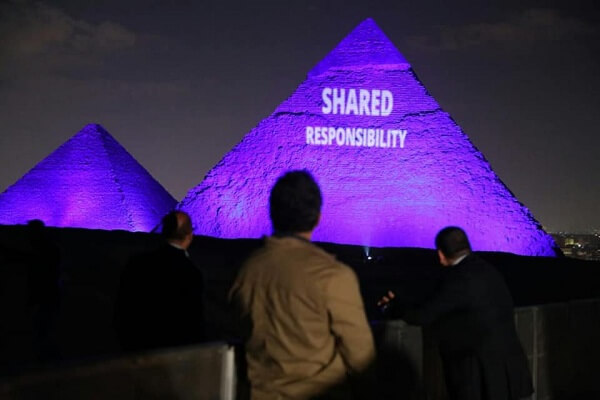 Egyptian Monuments illuminate for the World - Egypt Vacation Tours (2)